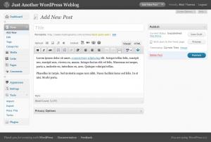 L'interface WordPress