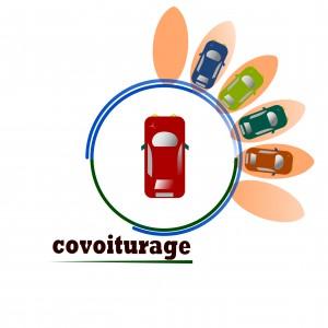 Un symbole représentant le covoiturage : plusieurs voitures réunies en une seule