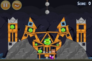 Le niveau mine d'Angry Birds