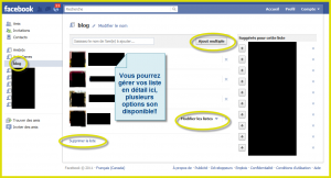 Les listes Facebook