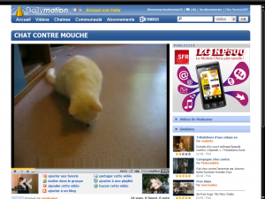 Une page Dailymotion