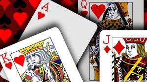 Des cartes de poker étalées